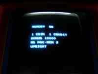 Ms Pacman Arcade Machine Test Screen